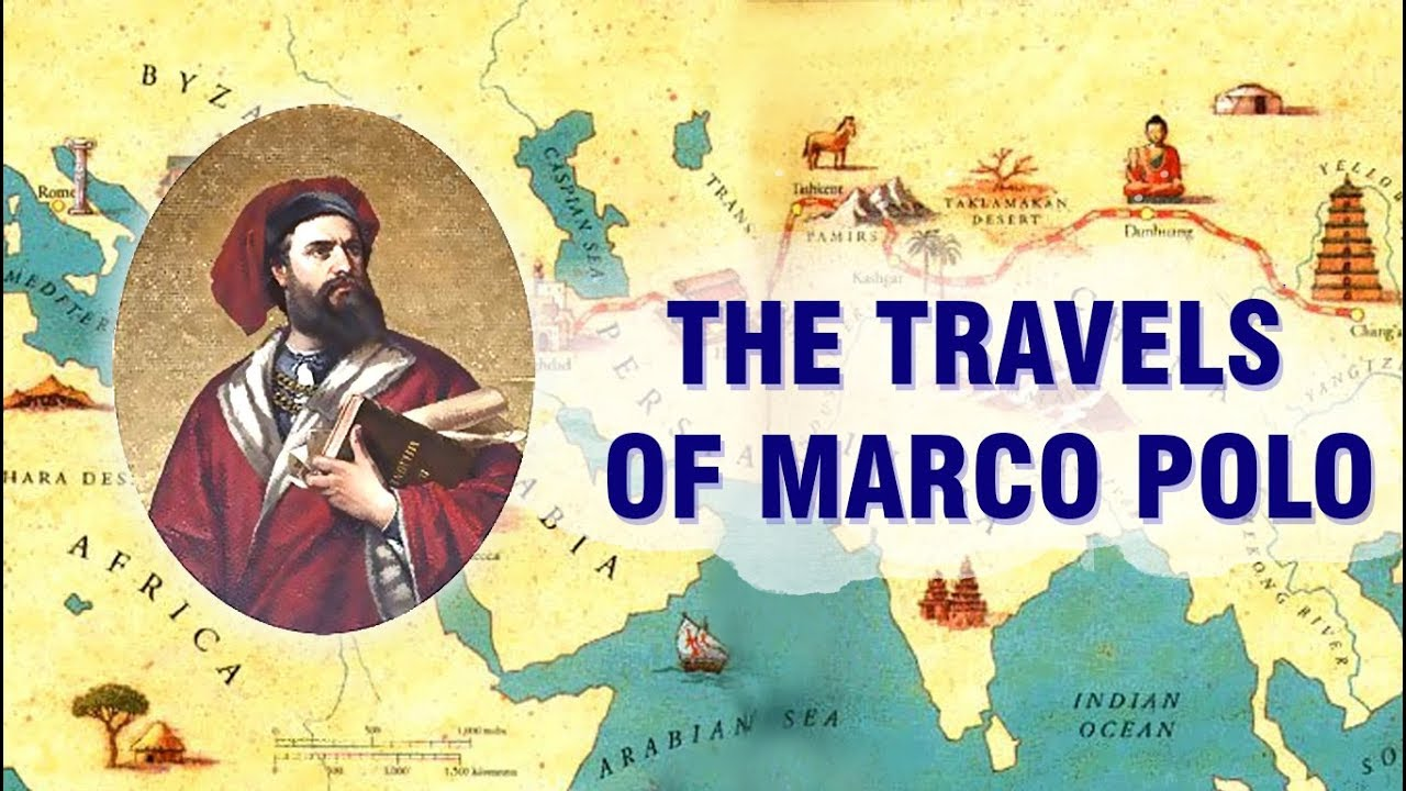 The Travels of Marco Polo on marco polo china route map, marco polo's expeditions map, big marco polo travel map, trans saharan trade route map, ancient silk road route map, christopher columbus voyage route map, silk road trade route map, marco polo's route on a map, marco polo trade route map,
