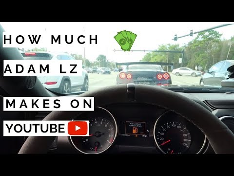 How much Adam LZ makes on Youtube