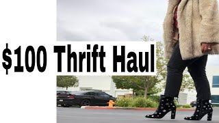 $100 Thrift Haul   Levis Mom Jean Jackpot  