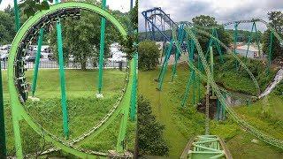 Mindbender Roller Coaster 4K Multi-Angle POV Six Flags Over Georgia
