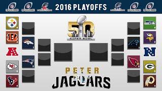 PETERJAGUARS 2016 NFL PLAYOFF PREDICTIONS! FULL BRACKET + Super Bowl 50 Winner and All Games