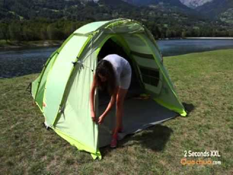 25be96f11 Quechua Tenda 2 seconds XXL - YouTube