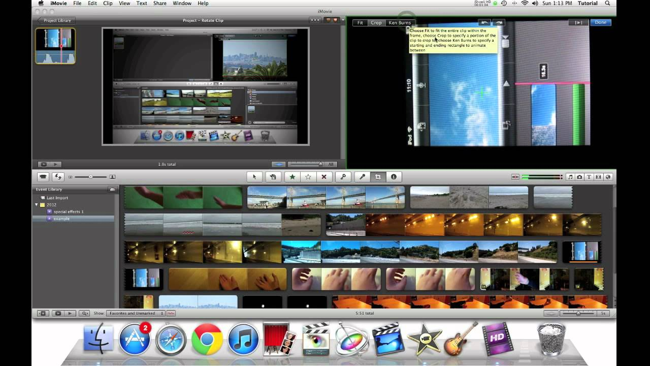 Imovie 11 quick tip rotating a video clip youtube imovie 11 quick tip rotating a video clip ccuart Images