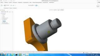 Видеоурок Creo Parametric 3.0 Моделирование цапфы.