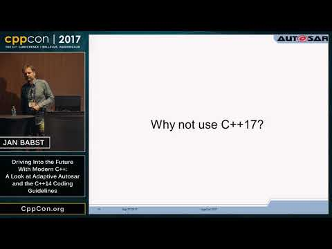 """CppCon 2017: Jan Babst """"Driving Into the Future With Modern"""