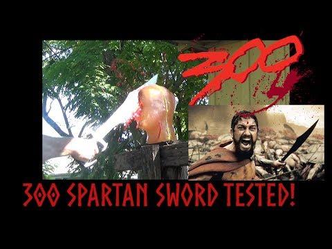 King leonidas 300 Spartan Kopis Tested on Ballistic Gel Head!