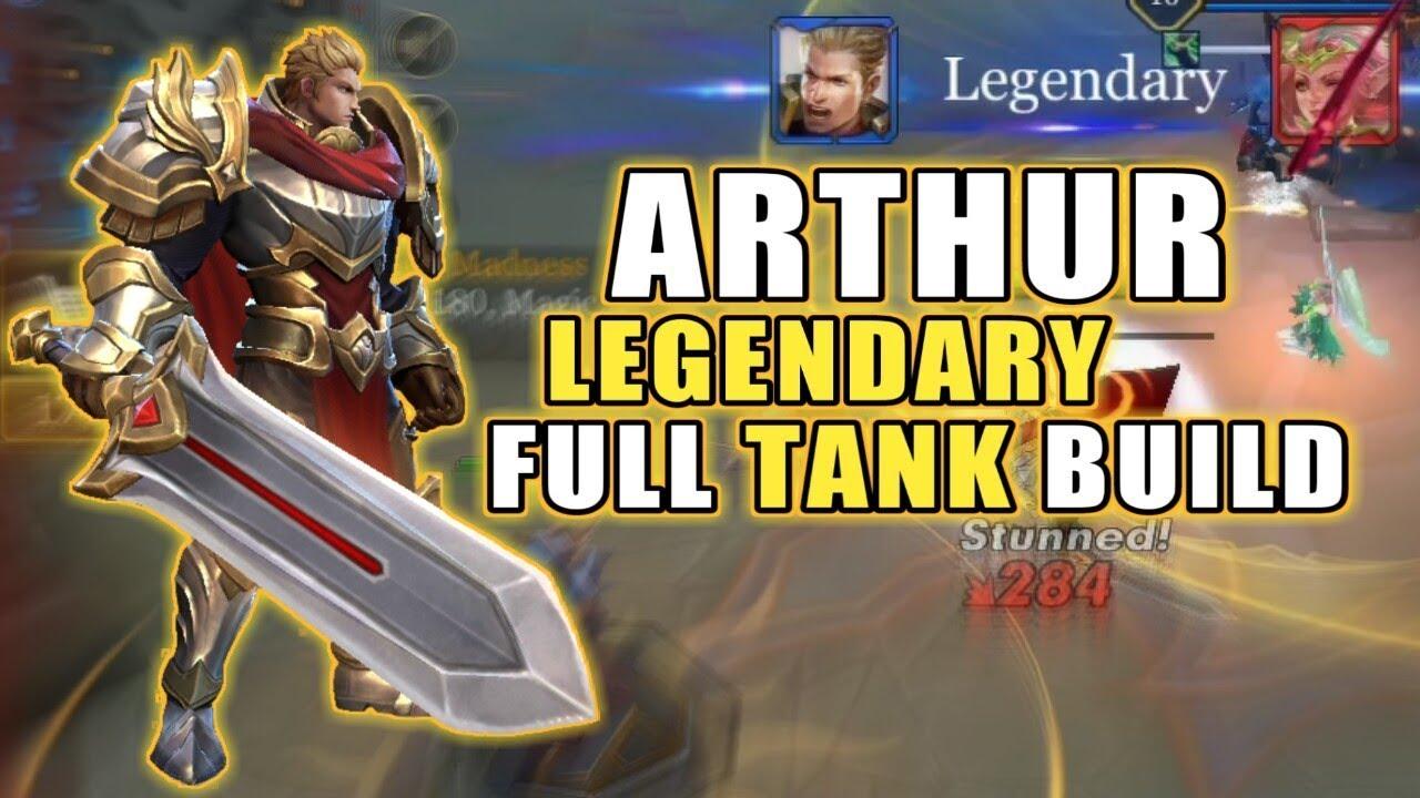 arthur full tank build arena of valor aov youtube. Black Bedroom Furniture Sets. Home Design Ideas