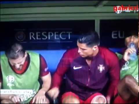 Cristiano Ronaldo funny - Portugal France 1 0 ( gol Eder ) Euro 2016