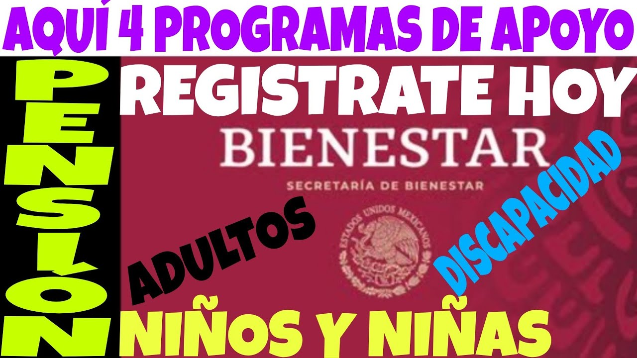 AQUI PROGRAMAS PRIORITARIOS CÓMO REGISTRARSE: PENSIÓN ADULTO Y DISCAPACIDAD, NIÑOS Y NIÑAS, CAMPO.