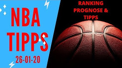 NBA TIPPS am Sonntag, 26.01.2020 🏀 Prognosen und Analyse zu den Basketball-Spielen heute Nacht
