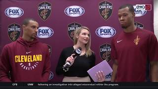 Allie catches up with George Hill & Rodney Hood, two 'excited' new Cleveland Cavaliers