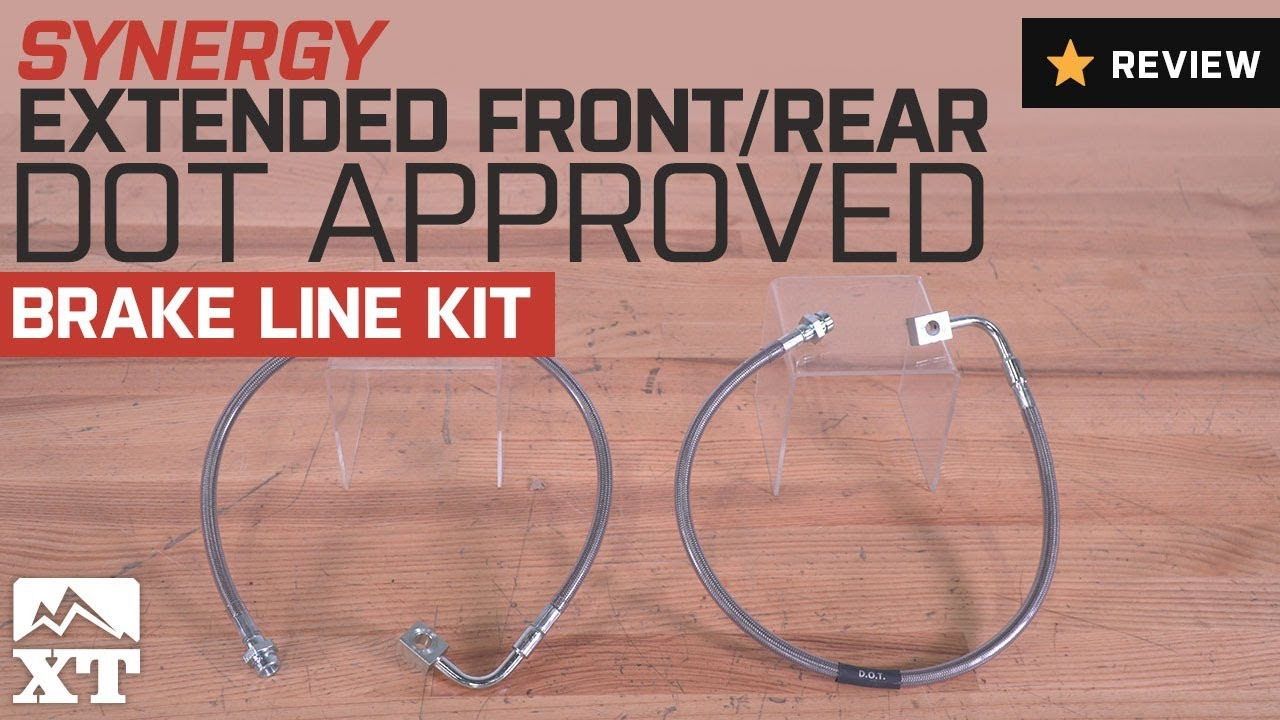 Jeep JK Extended Front or Rear DOT Approved Brake Line Kit Synergy Mfg