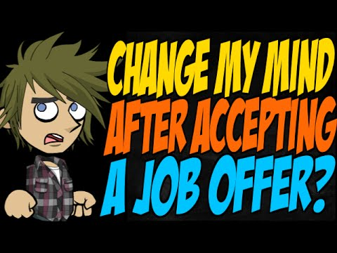 decline job offer after accepting