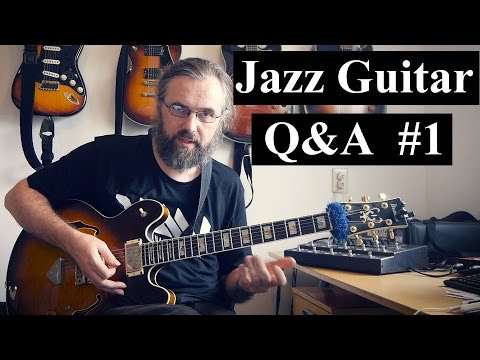 Jazz Guitar Q&A #1 - CAGED, Barry Harris, Modes, Singable lines