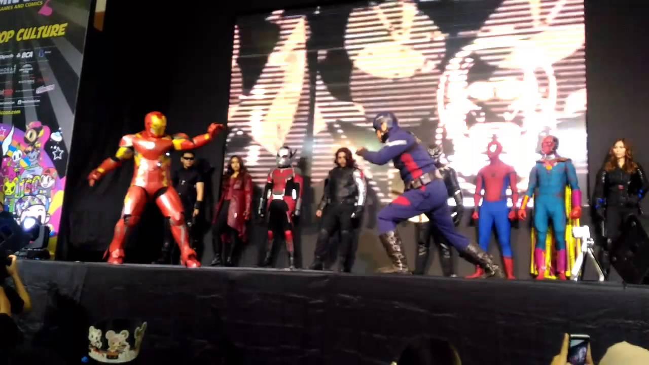 Civil War Part 5 The Final Battle : Captain America vs Iron Man  Indonesia Comic Con 2017