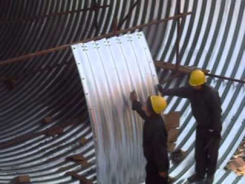 Assembled Corrugated Steel Pipe Installing Youtube