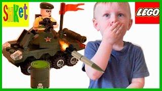 Военный ТАНК, Лего 3 в 1 КОРАБЛИК Lego ВЕРТОЛЕТ видео ДЛЯ МАЛЬЧИКОВ Игры для детей Распаковка Тест