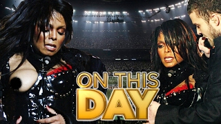 JANET JACKSON'S SUPER BOWL NIP SLIP | ON THIS DAY Feb 1st | Ronda Rousey & Harry Styles BIRTHDAY