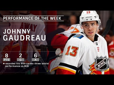 Johnny Gaudreau keeps rolling for Flames, tallies eight points over four games