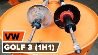 Urmăriți un ghid video despre înlocuire VW GOLF III (1H1) Kit amortizoare