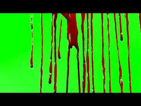 FREE - Blood Drizzle - Green Screen
