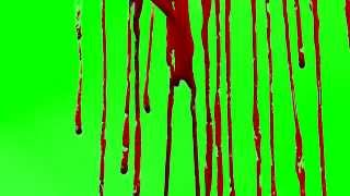 free blood drizzle green screen