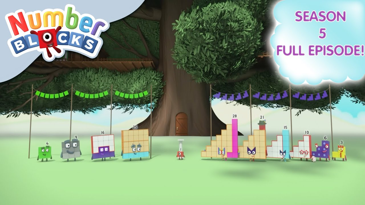 @Numberblocks- Steps Versus Squares 🟦   Shapes   Season 5 Full Episode 22   Learn to Count