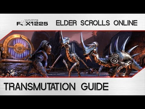 ESO: Transmutation guide! Change the Trait on Weapons and Armor!