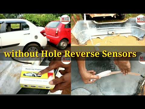 Install Car  parking sensors without Drilling