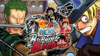 One Piece Burning Blood Demo Gameplay GEAR 4 TRANSFORMATION, Luffy, Franky, Zoro vs Ace, Sabo, Kuzan