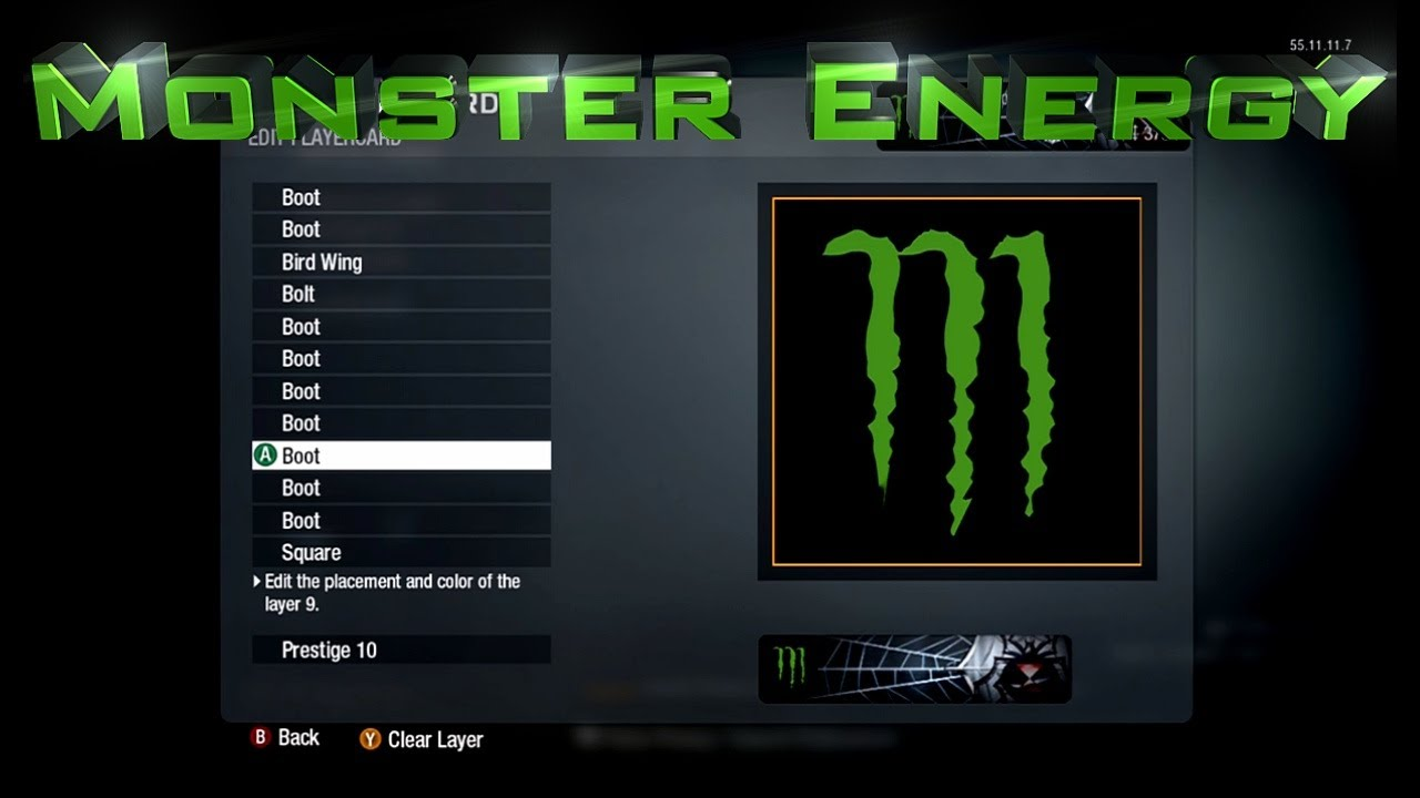 monster energy emblem logo call of duty black ops emblem editor series episode 1 youtube