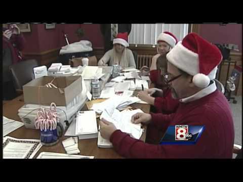 Letters to Santa roll through Portland post pffice