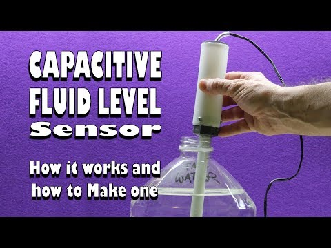 Water level/fluid level capacitive sensor - How it works and how to make one
