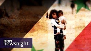 Syria war: suspected Sarin attack on rebel-held Saraqib – BBC Newsnight