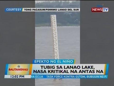 BT: Tubig sa Lanao Lake, nasa kritikal na antas na