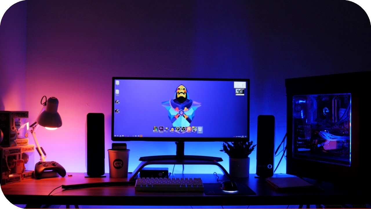 Como instalar tira leds para tu setup gamer youtube - Luces led habitacion ...