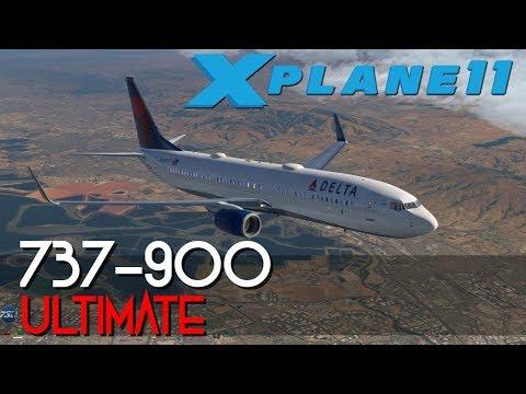 X-plane 11 -737-900 Ulitmate -KSLC-KRNO