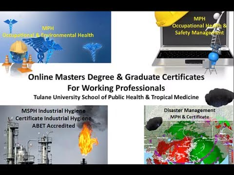 MPH MSPH Certificates online Tulane University School of Public Health and Tropical Medicine