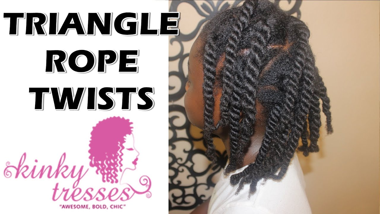 Quot Fun Quot Triangle Rope Twists Protective Style Hairstyle For