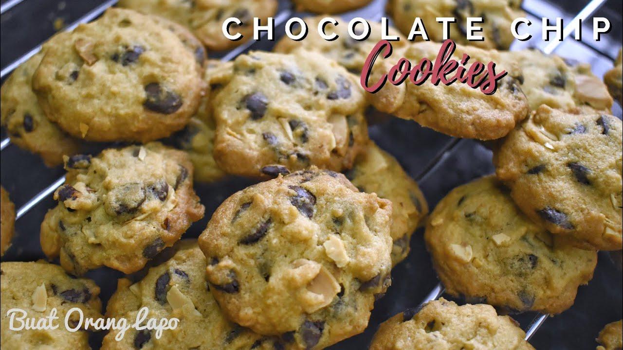 How To Make Crunchy Chocolate Chip Cookies Recipe Resepi Biskut Raya Cip Coklat Rangup Youtube
