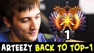 Arteezy is BACK TO TOP-1 Rank