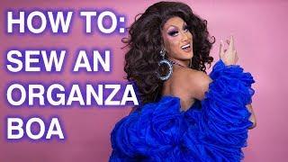 How To Sew A Ruffle Organza Fabric Boa!