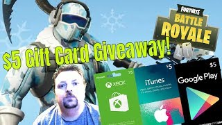 Fortnite / Squads & Duos / $5 Gift Card Giveaway