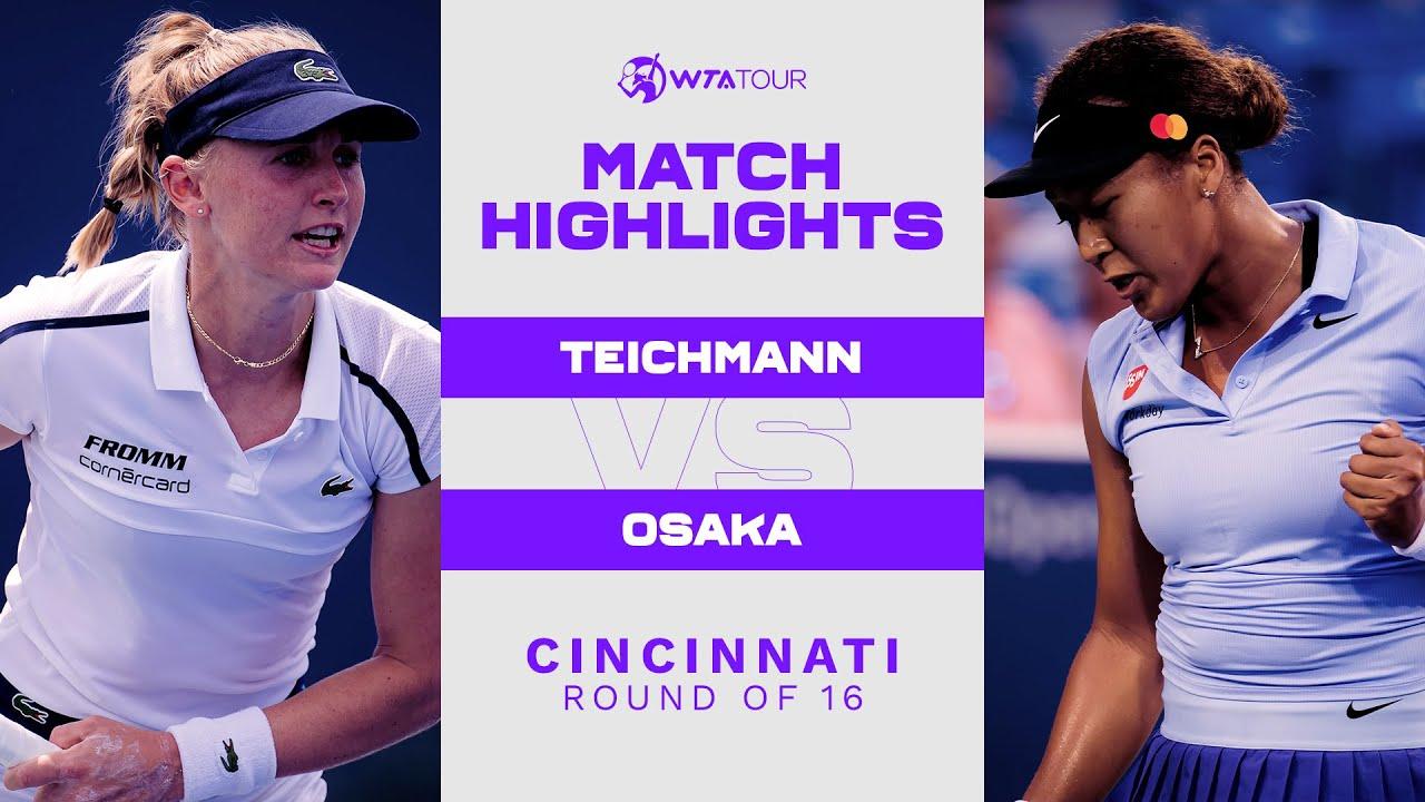 Download Jil Teichmann vs. Naomi Osaka   2021 Cincinnati Round of 16   WTA Match Highlights