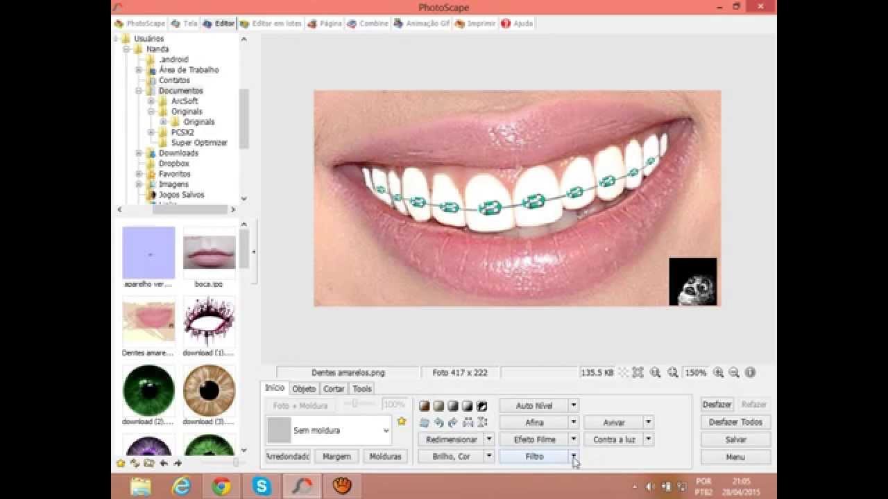 Tutoriais 2 Em 1 Como Clarear Os Dentes Por Aparelho Youtube