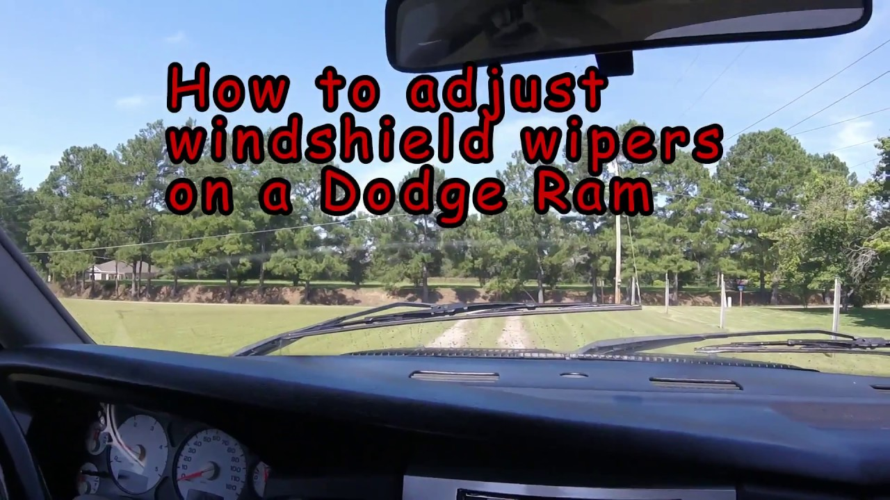 How To Align Adjust Dodge Ram Windshield Wiper It S Too Easy