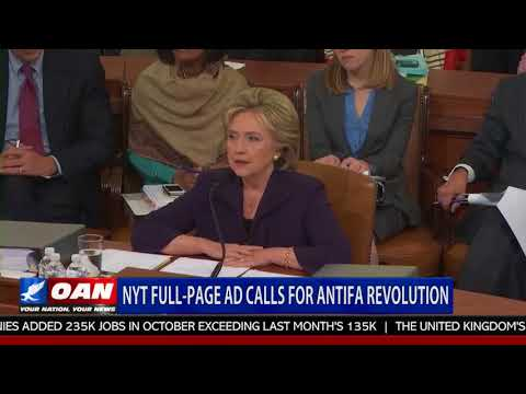 NYT Full-Page Ad Calls For Antifa Revolution