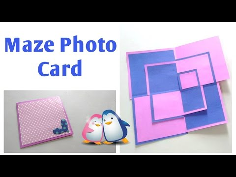 Maze photo card | Opening Square card | by Srushti Patil