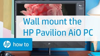 Removing the Monitor Stand for Wall Mounting - HP Pavilion All-in-One PC