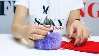 Анальная пробка с хвостиком зайчика фиолетовым